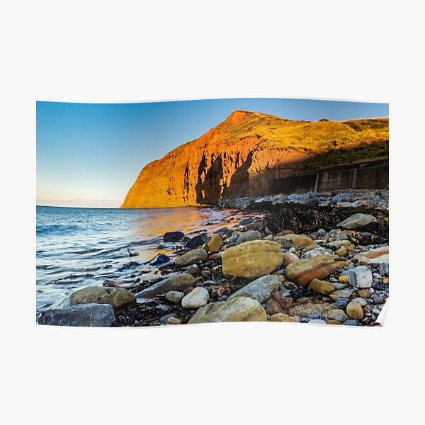 As The Sun Sets At Skinningrove Poster