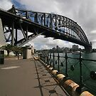 Sydney Harbour Bridge, Underneath the Arch. by John Dalkin