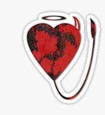 Red and Black love Sticker