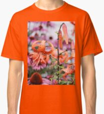 Mackinac Island Tiger Lilies and Echinacea Classic T-Shirt