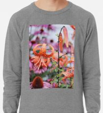 Mackinac Island Tiger Lilies and Echinacea Lightweight Sweatshirt