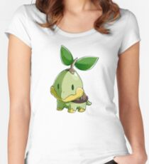 Sinnoh Project - Turtwig Women's Fitted Scoop T-Shirt