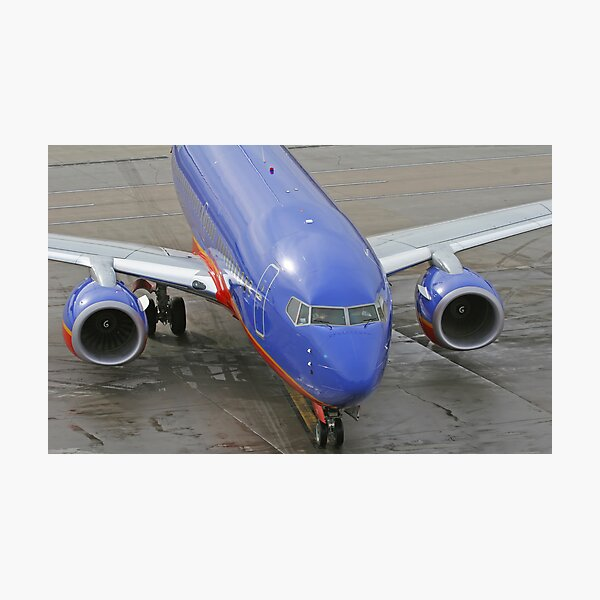 Blue Airplane Photographic Print