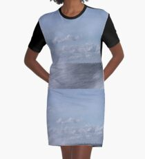 Abstract of Mackinac Island Ferry Ride Graphic T-Shirt Dress