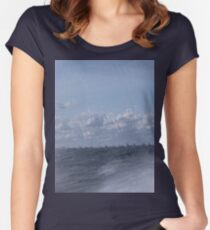 Abstract of Mackinac Island Ferry Ride Women's Fitted Scoop T-Shirt