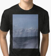 Abstract of Mackinac Island Ferry Ride Tri-blend T-Shirt