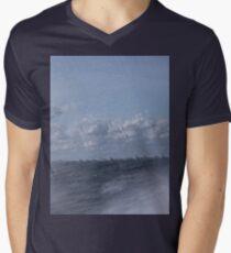 Abstract of Mackinac Island Ferry Ride Men's V-Neck T-Shirt