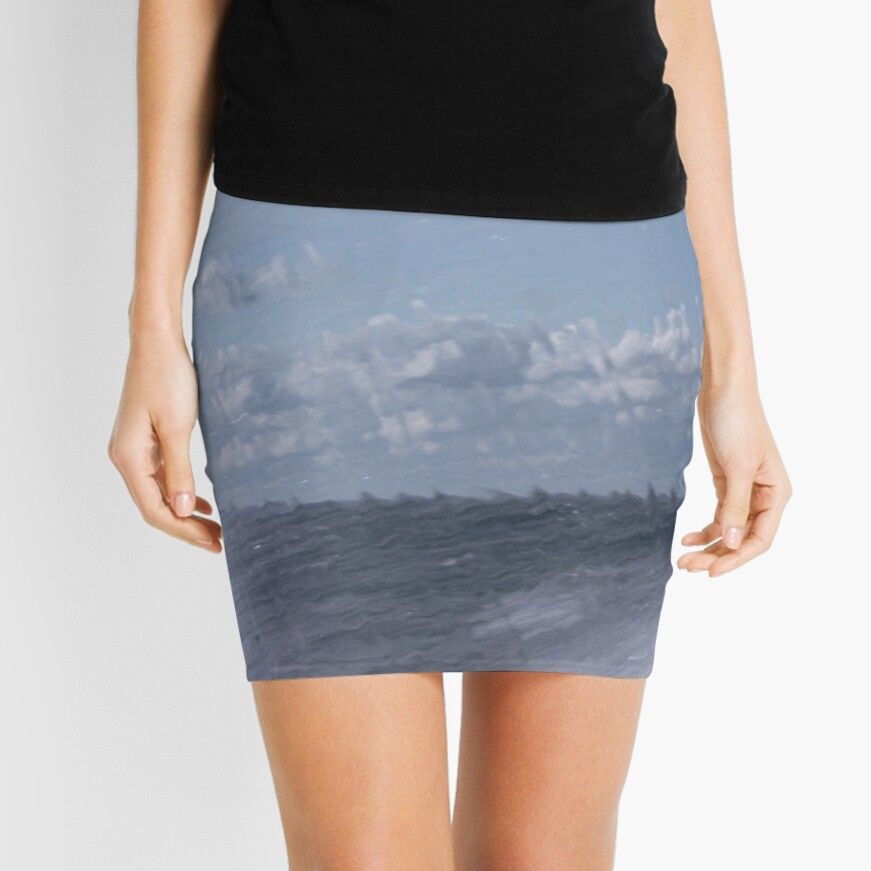 Abstract of Mackinac Island Ferry Ride Mini Skirt Front