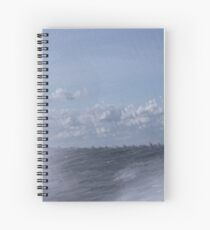 Abstract of Mackinac Island Ferry Ride Spiral Notebook