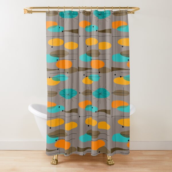 Mid-Century Modern Ovals III Shower Curtain