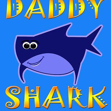 Daddy Shark Funny Tshirt Design by werdanepo