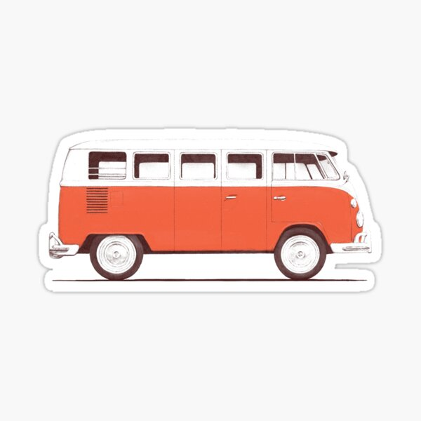 Red Van Sticker