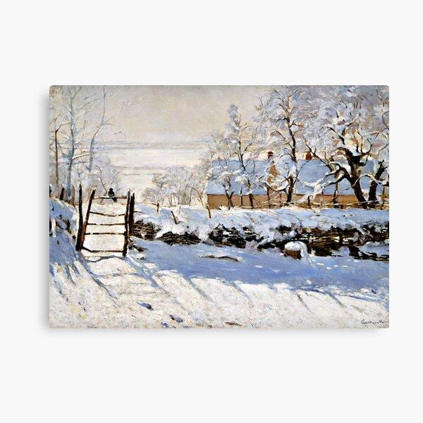 Monet - The Magpie Canvas Print