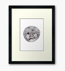 Man in the Moon Framed Print