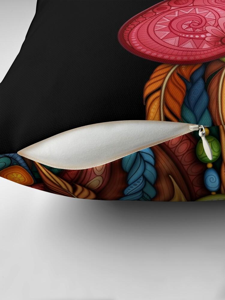 Alternative Ansicht von Stammes-Hahn-Design Dekokissen