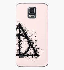 HP Hallows - half paint drops black - wand, cloak, stone Case/Skin for Samsung Galaxy