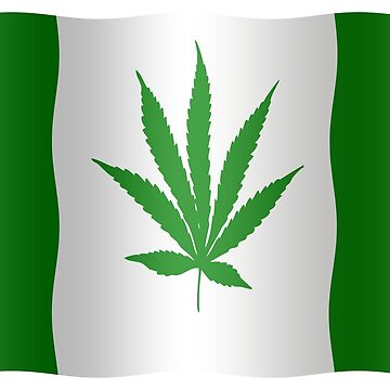 Canadian flag with cannabis leaf. by stuwdamdorp