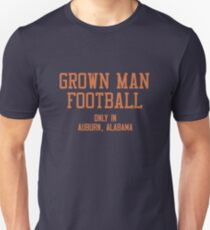 Grown Man Football Auburn 2 Slim Fit T-Shirt