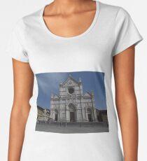 Santa Croce. Neo-Gothic Facade Women's Premium T-Shirt