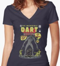 The Incredible Dart Women's Fitted V-Neck T-Shirt