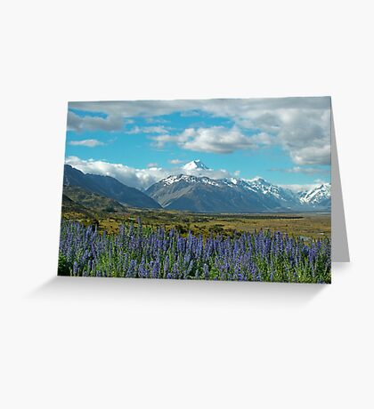 approaching mt cook Greeting Card