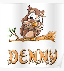 Denny Owl Poster