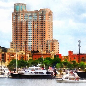 Baltimore MD - Boats at Inner Harbor  by SudaP0408