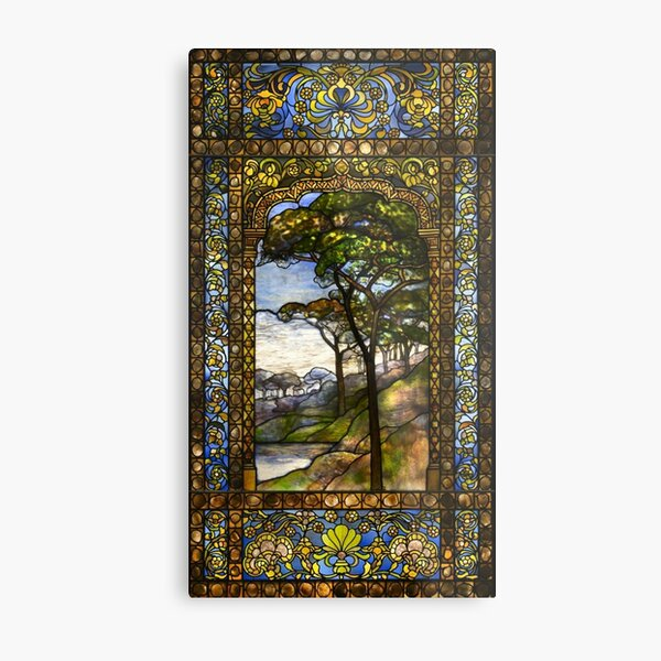 Louis Comfort Tiffany - Stained glass 15. Window 1895 Metal Print