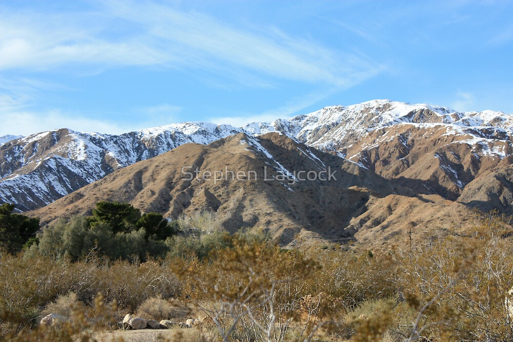 California Snow In The Desert by Stephen Laycock