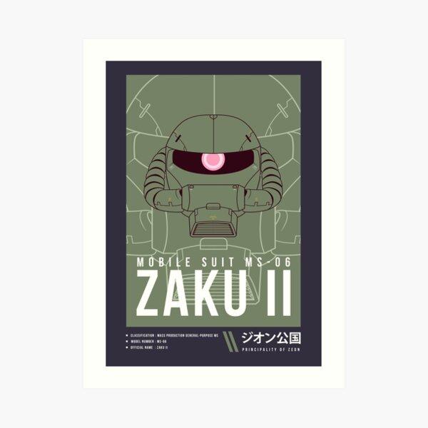 MS-06 Zaku II Ver. 2 Art Print