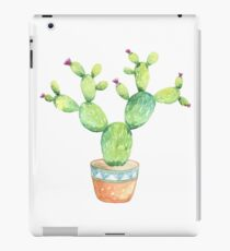 Watercolour Flowering Cactus in Pot iPad Case/Skin
