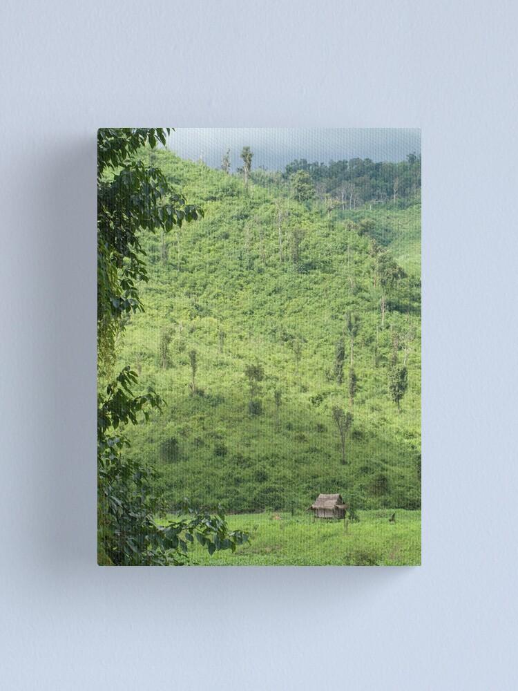 Alternate view of Laotian field hut Canvas Print