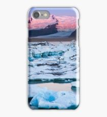 ICELAND:SUNRISE AT THE GLACIER LAGOON iPhone Case/Skin