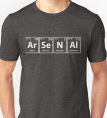 Arsenal (Ar-Se-N-Al) Periodic Elements Spelling Unisex T-Shirt