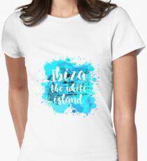 Ibiza the white island Camiseta entallada para mujer