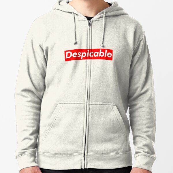 Despicable Sticker Zipped Hoodie