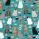 Cat breeds pure bred cats sushi kawaii pet gifts cat person must haves  by PetFriendly