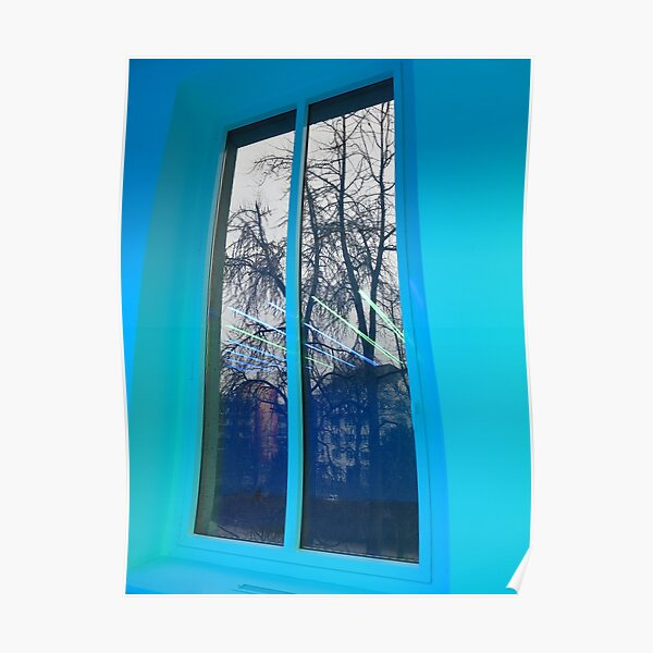 Blue light for a blue mood Poster
