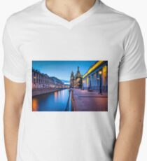 Saint Petersburg at Night Men's V-Neck T-Shirt