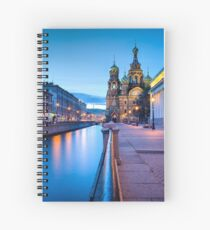 Saint Petersburg at Night Spiral Notebook
