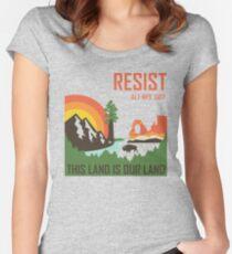 Unterstützung ALT NPS Tailliertes Rundhals-Shirt