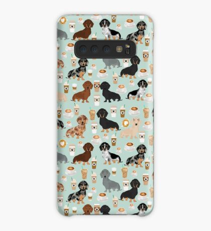 Dachshund coffee lover must have pet gifts dachsie doxie dog weener dog Case/Skin for Samsung Galaxy