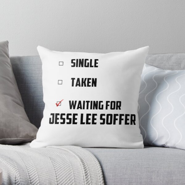 Waiting For Jesse Lee Soffer Throw Pillow