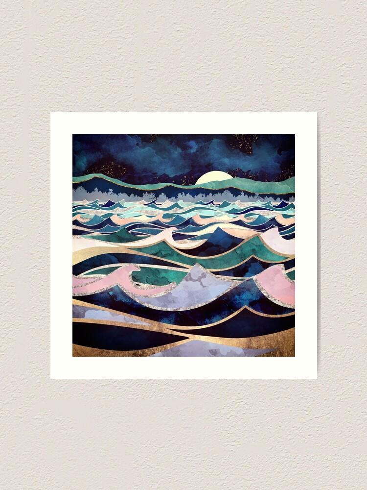 Alternative Ansicht von Mondlichter Ozean Kunstdruck