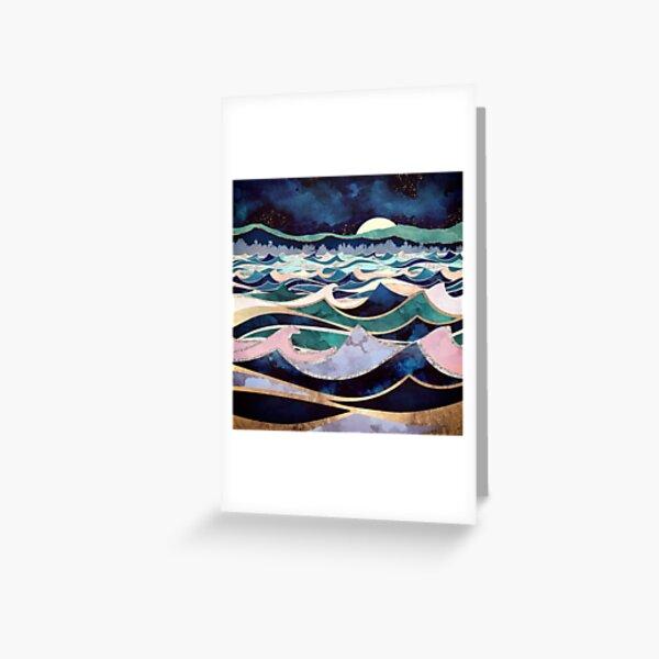 Moonlit Ocean Greeting Card