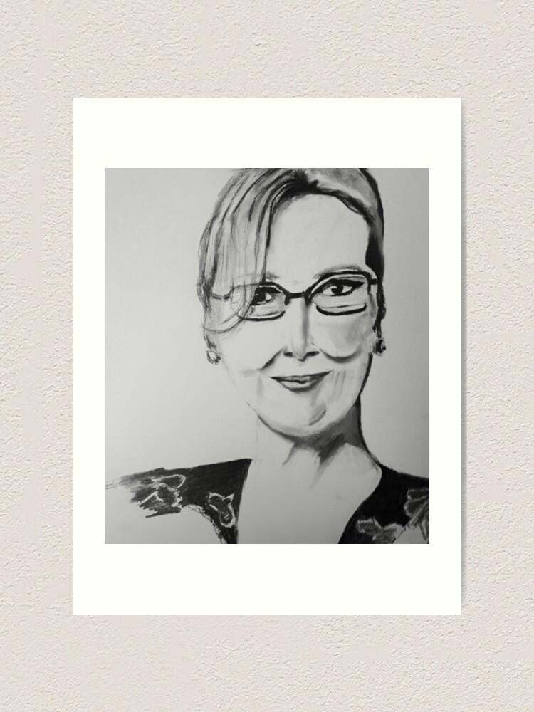 Meryl Streep Art Print By Eman4 Redbubble