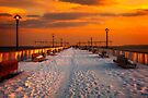 On the Pier In Winter by Chris Lord