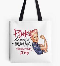 Pink Beautiful Trauma World Tour 2018 Tote Bag