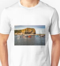 Staithes at high tide Unisex T-Shirt
