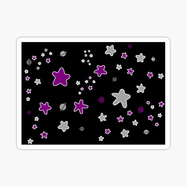 Stars and Planets pattern (asexual) Sticker